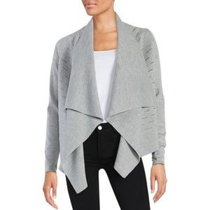 Elie Tahari Sweaters - Elie Tahari Calista Sweater Open Cardigan Grey
